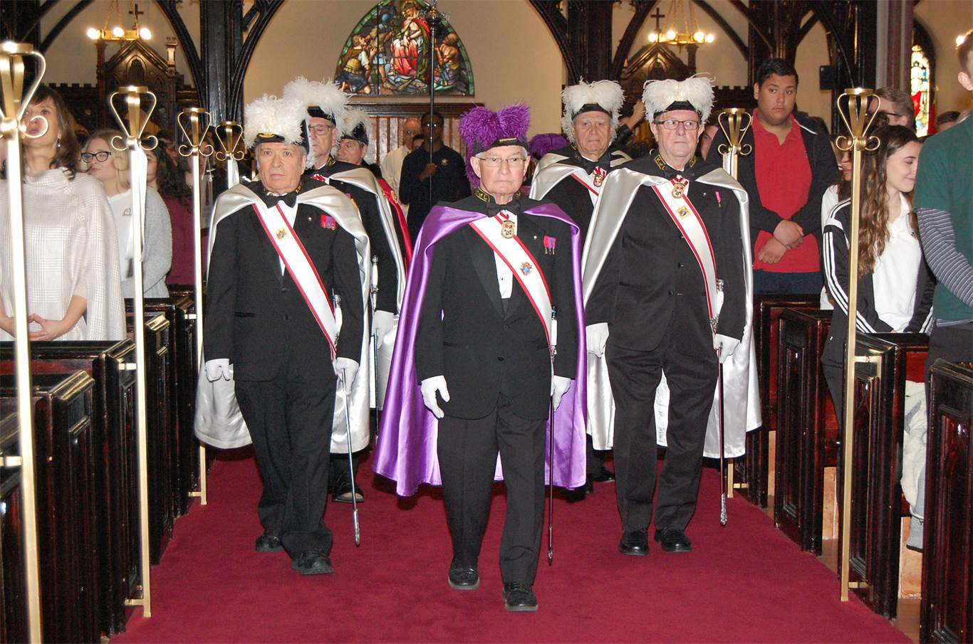 The Knights of Columbus provided an Honour Guard at the annual System-Wide Graduates' Mass at St. Mary Pro Cathedral on May 10th.