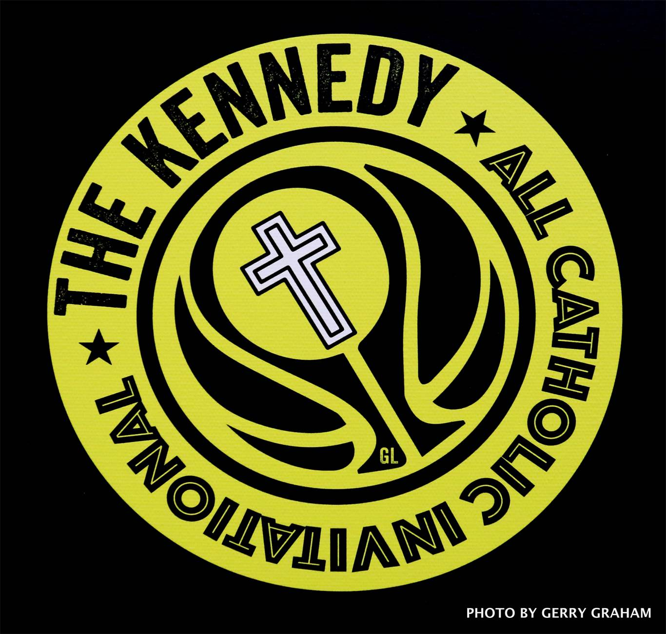 New logo for the Kennedy Invitational All Catholic Junior Boys Basketball Tournament. Photo by Gerry Graham.