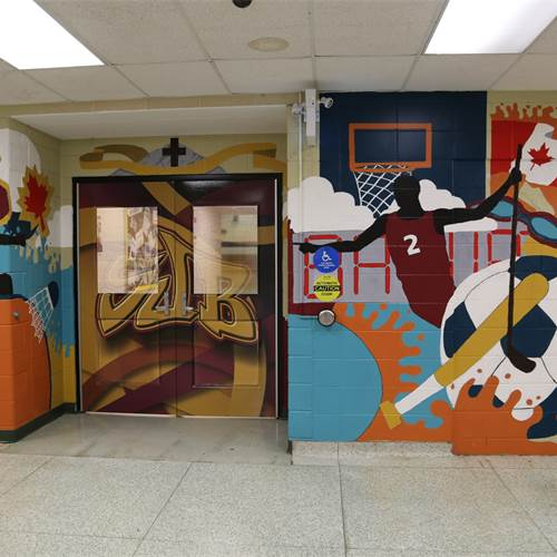 SJB builds school pride through painted mural