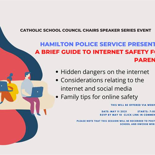 CSC Speaker Series:  A Brief Guide to Internet Safety for Parents Presented by Hamilton Police Services